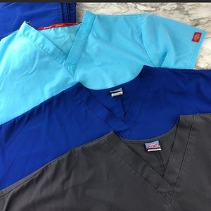 3 pack BUNDLE Women's scrub top Cherokee/Dickies